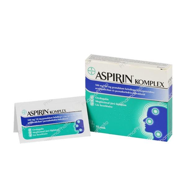 Aspirin Complex 500 mg/30 mg granulátum belsőleges szuszpenzióhoz