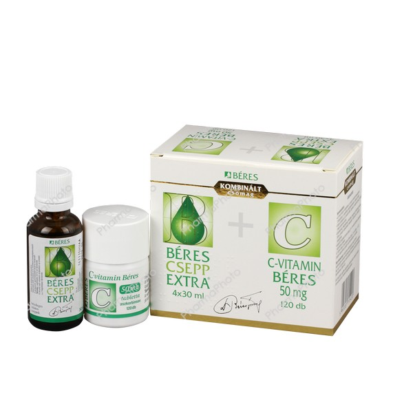 Béres Csepp Extra belsőleges oldatos cseppek + C-vitamin Béres 50 mg tabletta