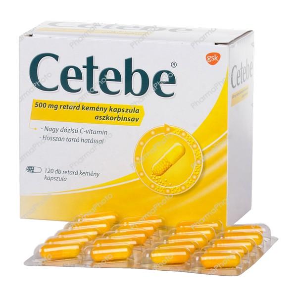 Cetebe 500 mg retard kemény kapszula