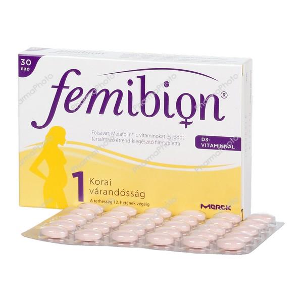 Femibion 1 D3 filmtabletta 30x617332 2016 tn