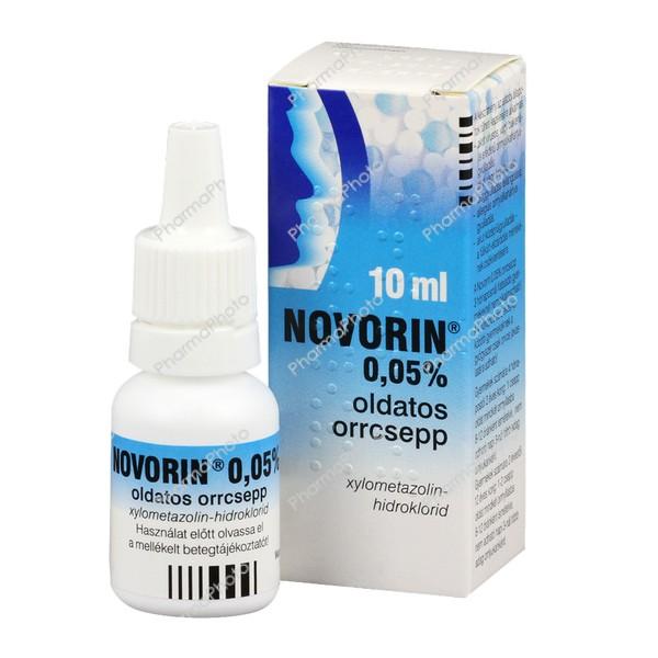 Novorin 0,05% oldatos orrcsepp (2-12 éves korig)