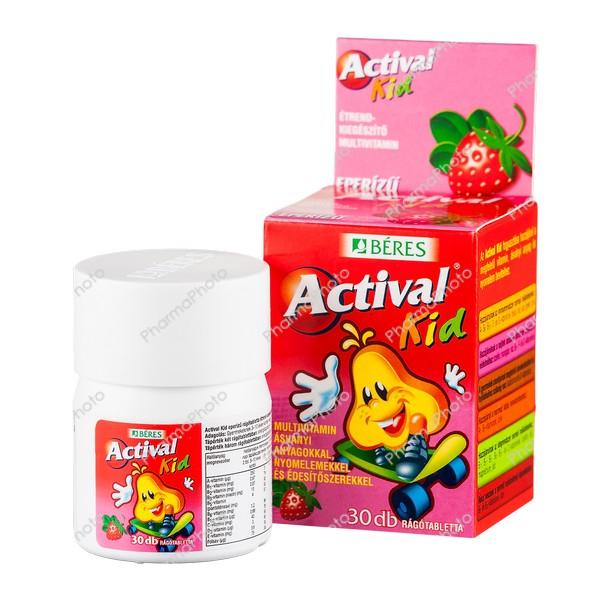 Actival Kid ragotabletta eper izu 30x742971 2016 tn