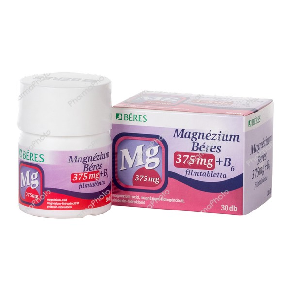 Magnezium Beres 375mg B6 filmtabletta 30x151503 2018 tn